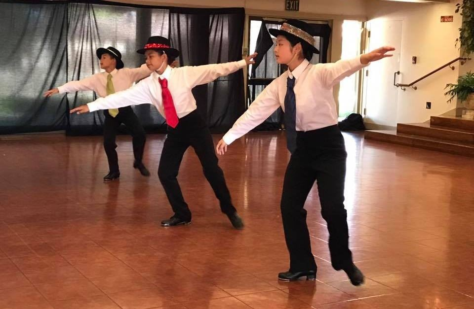 Tap Dance Participants Performing