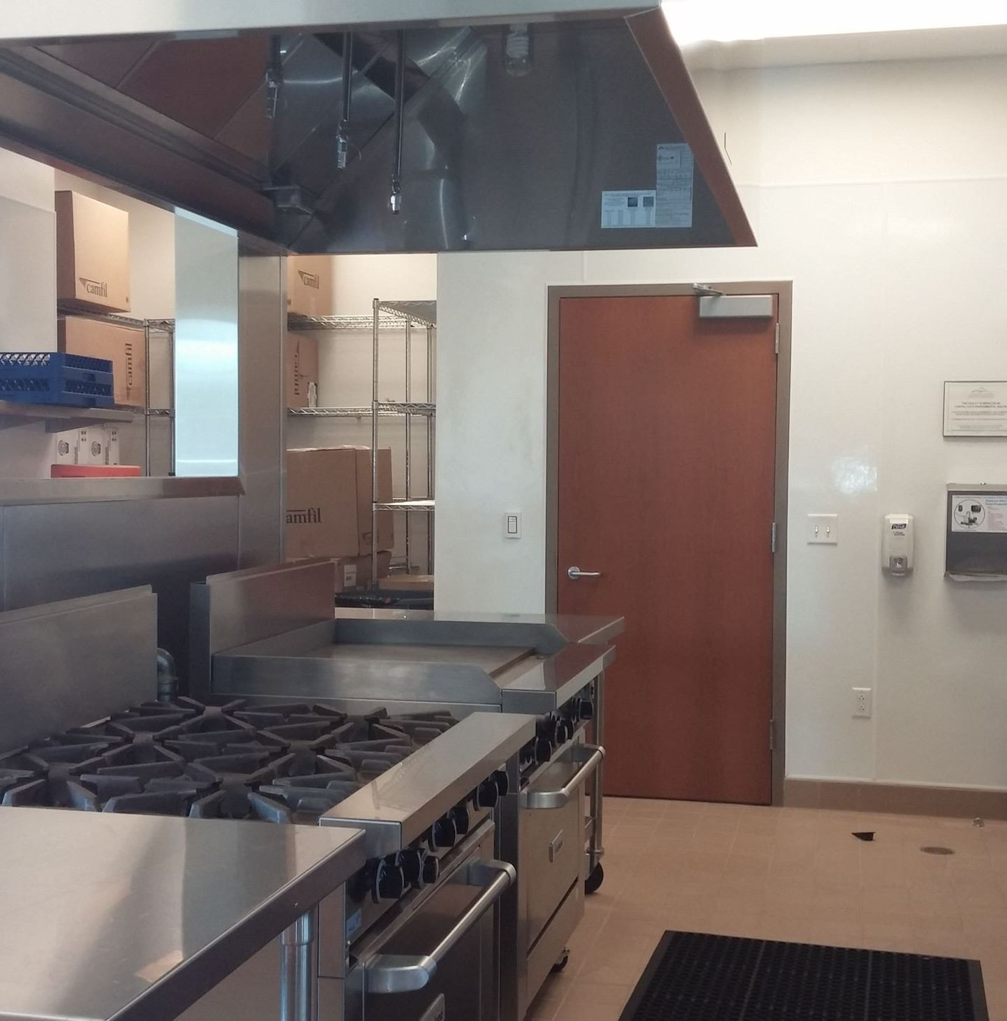 Inside Community Hall Kitchen