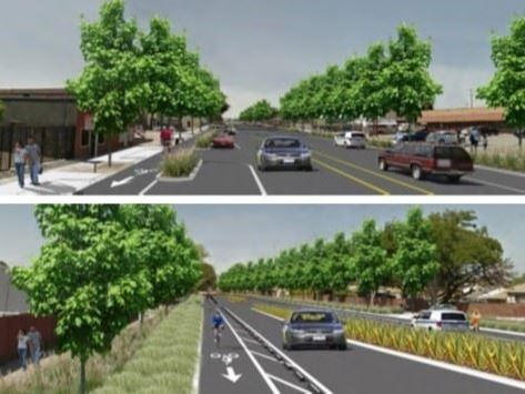Merged Concept Design Visuals for the Rumrill Boulevard Complete Streets Project