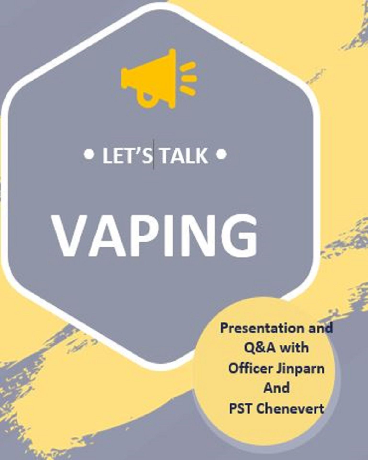 Vaping Class via Zoom on Tuesdays and Wednesdays