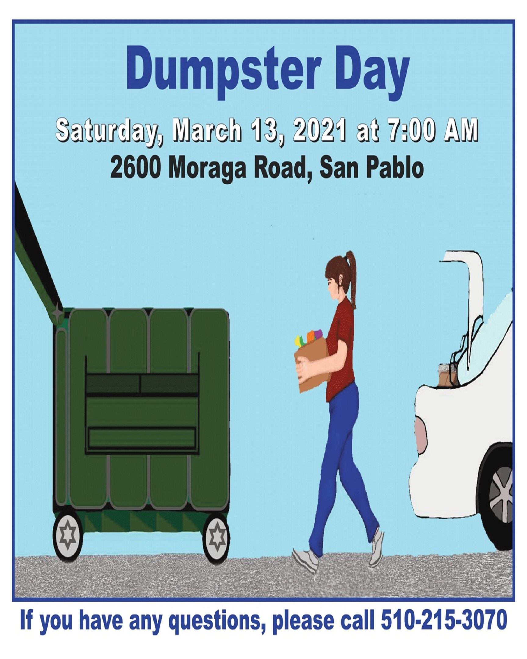 Dumpster Day March 13, 2021