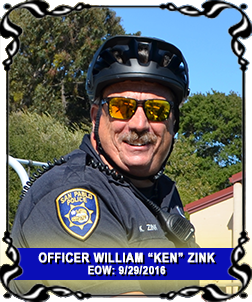 Officer William Ken Zink End of Watch September 29, 2016 Memorial